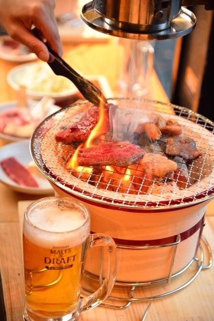立ち食い焼肉 と文字 - うまい肉は炭で更に美味しくなる!