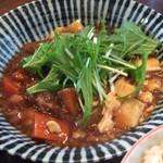 さくら本店 - [Lunchの主皿]牛すじと根野菜の醤油煮(2015.1.27)