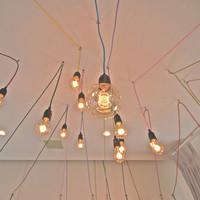 自然食カフェ すぴか - 乙女座の星を配置したランプ。スピカがひときわ大きく灯っています。