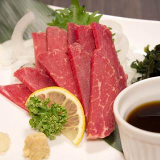 生で食せる馬肉料理