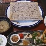 40682709 - 前菜と盛り蕎麦