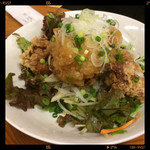 亀松 - 鳥唐揚 おろしポン酢 580円