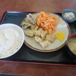 みなと食堂 - 料理写真:ホルモン天ぷら定食
