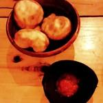 カラバッシュ - 20150808 アカラ(マリ料理) パンダ豆のふわふわコロッケ