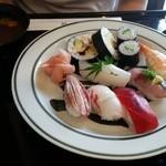 花三昧 - 寿司 天麩羅定食1600円