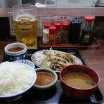 宇宙軒食堂 - とんバラ定食ご飯大盛り(730円)