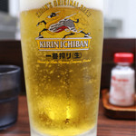 宇宙軒食堂 - 生ビール大(850円)