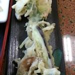 さくら - 夏季メニュー「天もりさくらうどん」(1200円)の天ぷら
