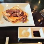 鉄板焼 一徹 - 【肉】国産牛ロースステーキ(130g)