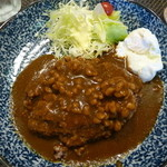 はづ貴 - 納豆と玉子のカレー(860円)
