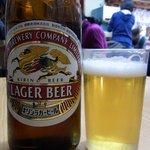 鳥喜多支店 - まずは何時ものようにビールからのスタートです。ここは、キリンのラガービルでした。