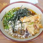 めん太郎 - 冷やしそば + 野菜天 ¥400 + ¥120