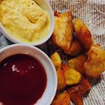 ザ グラブ - フィッシュ&チップス。これまた揚げたてで美味しかったです。料理の美味しいビアパブ、これ大切です。