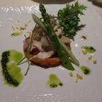 リストランテ・イ・ルンガ - 大和肉鶏のサラダ仕立て ペペロナータを添えて
