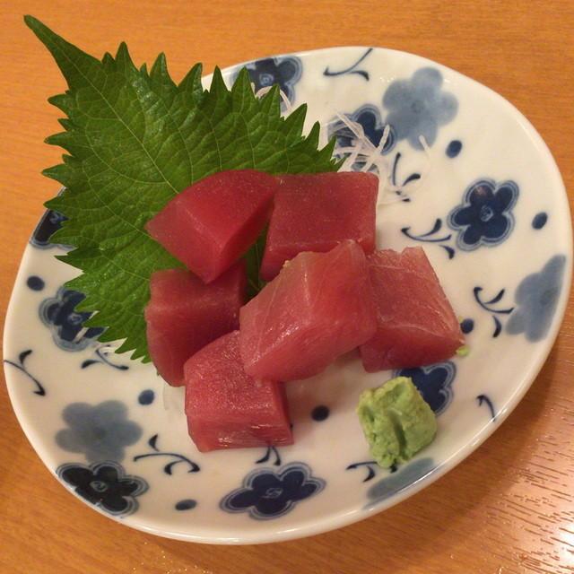 立飲亭 帆立屋 川崎店 - まぐろぶつ(390円)2015年8月
