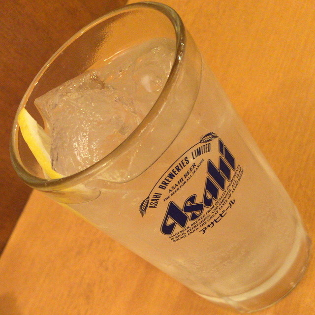 立飲亭 帆立屋 川崎店 - レモンサワー(325円)2015年8月