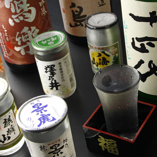 季節のお酒数種がワンコインの500円でお楽しみ頂けます