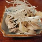 きあい - 【2015.8.8(土)】鶏肉のしそのみあえ(サービス)
