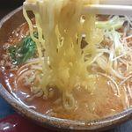 味噌屋麺四朗 - 担々麺(辛さ2倍)麺リフト