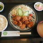 さかた  - 東栄若鶏唐揚定食