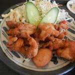 さかた  - 東栄若鶏唐揚定食(アップ)