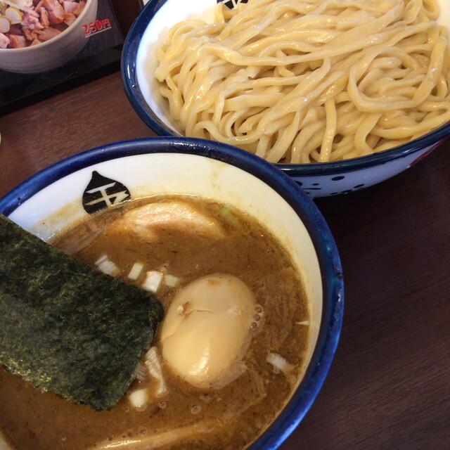 つけめん 玉 - 味玉つけめん・麺中盛(900円)2015年8月