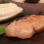 鮨 とかみ - 2015/8_天然鰻と黒ムツの焼きもの