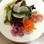 カフェ・ド・ロトリー - 自家製ドレッシングを使ったサラダ