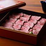 なっぱjuicy - 季節の重箱ごはん(コース料理の〆)