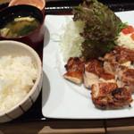 40724296 - もろみ漬け鶏の炭火焼定食