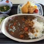 網元番屋 - イガイカレー(他二点もり、汁付)1000円