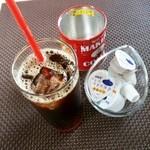 Cafe&IT Fiesta - アイスコーヒー セット216円 2015/08