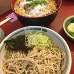 40733034 - カツ丼合わせ冷たい蕎麦セット(玉子固め)