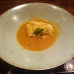 青山はしづめ - 蟹玉にタラバガニの味噌餡かけに金針菜