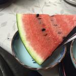 乗瀬高原荘 - 夕食 デザートはすいか