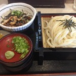 釜揚げうどんやしま 守口本店 - 丼セットランチ(864円)ざるうどん+ミニ鰻まぶし丼