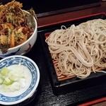 40736895 - かき揚げ丼セット730円(税込)