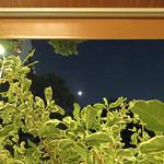BLUE POINT - テラスのテーブルから見るお月様