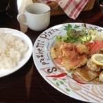 40737614 - チキンのガーリック焼き&牡蠣のフリッター