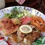 40737620 - チキンのガーリック焼き&牡蠣のフリッター