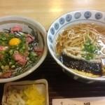 一福 - ミニネギトロ丼&そば