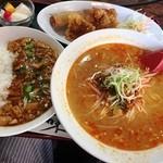 四川菜館 - 坦々麺(赤)セット