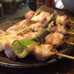もつ焼き 稲垣 - ネギま4本500円