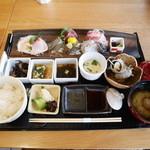 館山なぎさ食堂 - さしみ定食Bセット¥2310