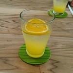マメゲンカフェ - 緑(あお)みかんジュース