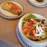 タントタント - フォカッチーニ と サラダ