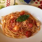 パッパパスタ - 完熟トマトとモッツァレラのバジリコ風味