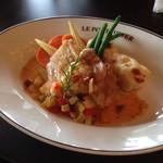 40752583 - 華味鷄のロースト                         夏野菜ソース