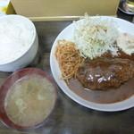 ホームラン食堂 - 限定特製ハンバーグ定食880円180g8/10