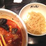 濃厚豚そば ぶれん - 替え玉は何故か細麺です。